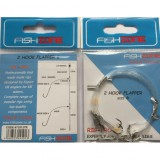 FISHZONE 2 HOOK FLAPPER RIG SIZE 1/0
