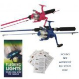 JARVIS WALKER 5' ROD AND REEL COMBO WITH FLASHING LIGHTS
