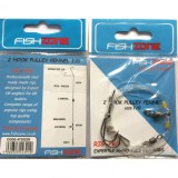 FISHZONE 2 HOOK PULLEY PENNEL RIG SIZE 1/0